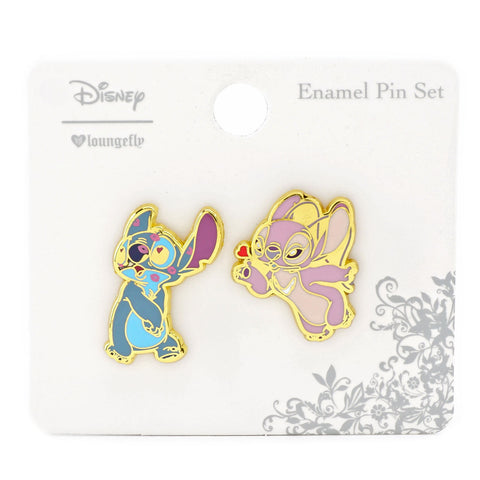 Loungefly X Disney Lilo and Stitch Stitch and Angel 2Pk Enamel Pin