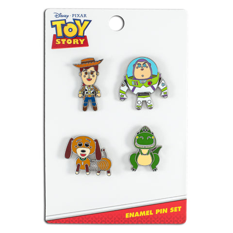 Loungefly X Disney Toy Story 4 Piece Enamel Pin Set