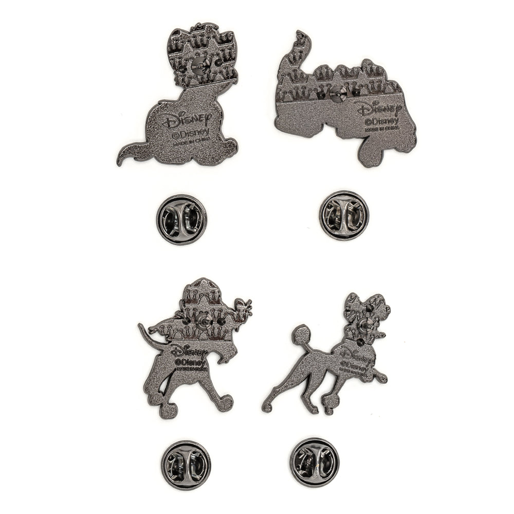 Loungefly X Disney Oliver and Company 4 PC Enamel Pin Set-zoom