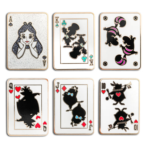 Disney Alice In Wonderland Playing Cards Blind Box Pin