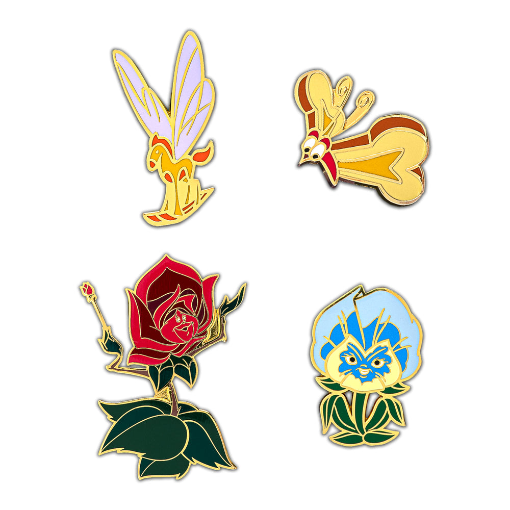 Disney Alice in Wonderland 4pc Enamel Pin Set-zoom