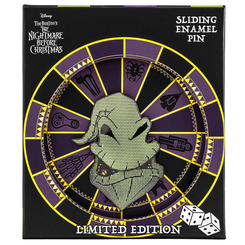 "Disney The Nightmare Before Christmas Oogie Boogie LE 2000 3"" Collector Box Enamel Pin"
