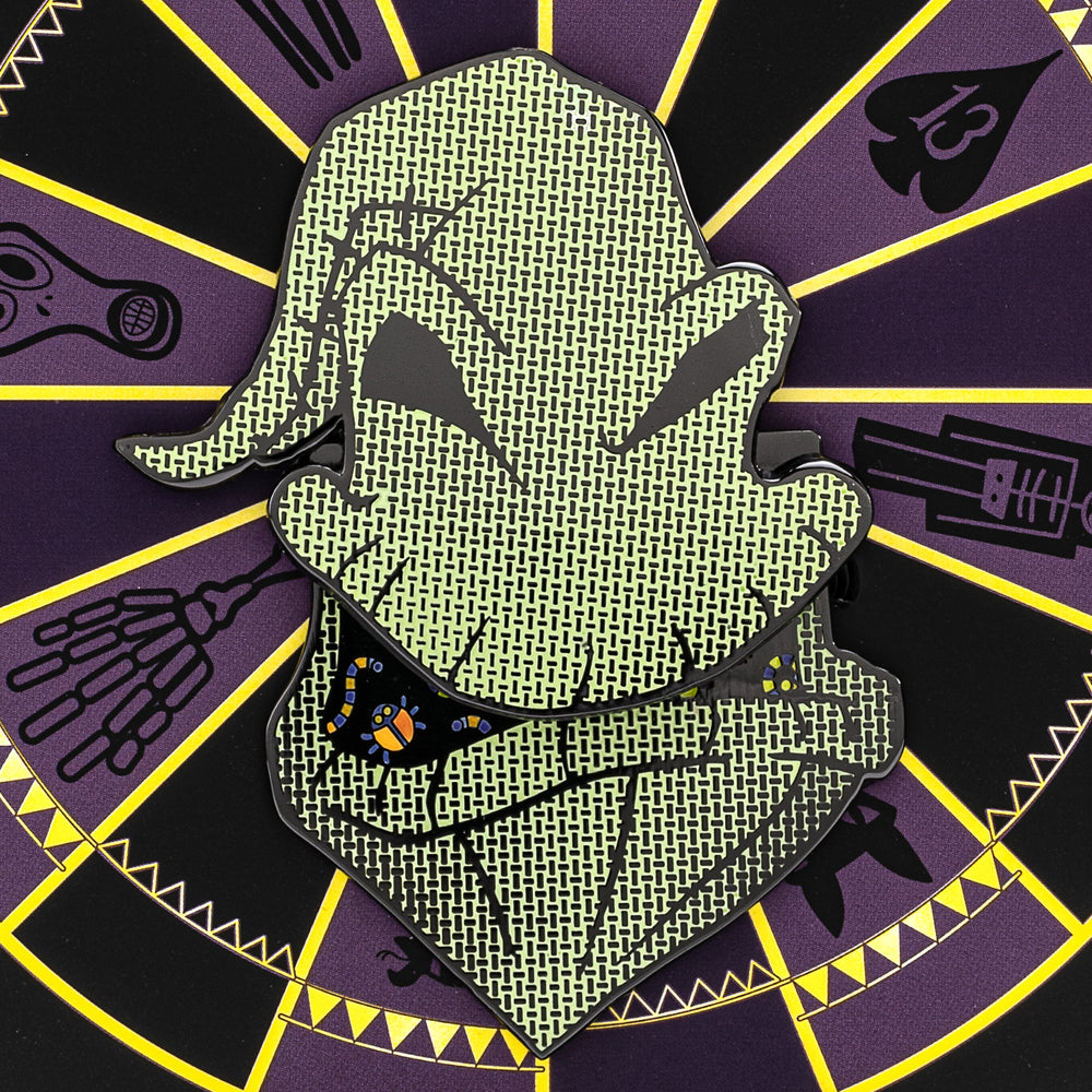 "The Nightmare Before Christmas Oogie Boogie LE 2000 3"" Collector Box Enamel Pin-zoom"