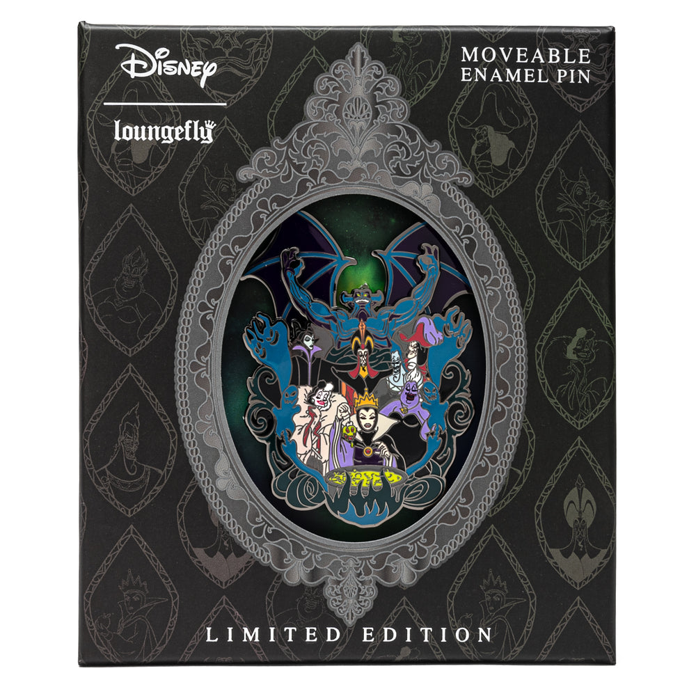 Disney Villains Collector Box Moveable Enamel Pin-zoom