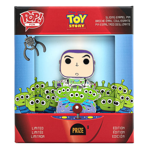 Pixar Toy Story Buzz & Alien Collector Box Sliding Enamel Funko Pop! Pin