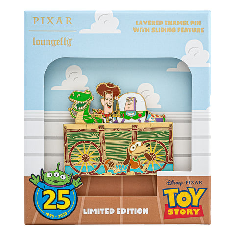 Pixar Toy Story 25th Anniversary Collector Box Sliding Enamel Pin