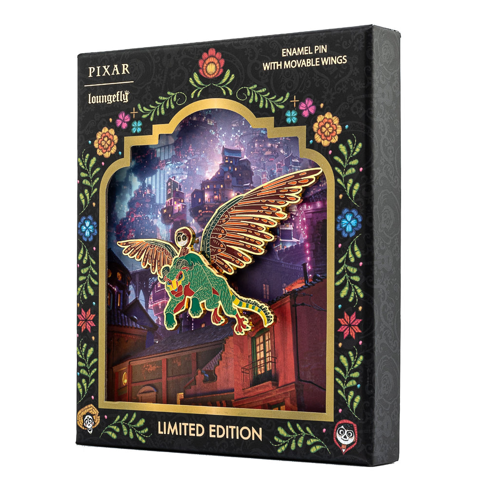 Pixar Coco Collector Box Enamel Pin with Moveable Wings-zoom