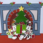 Disney Holiday Mickey & Minnie Mouse Collector Box Sliding Enamel Pin