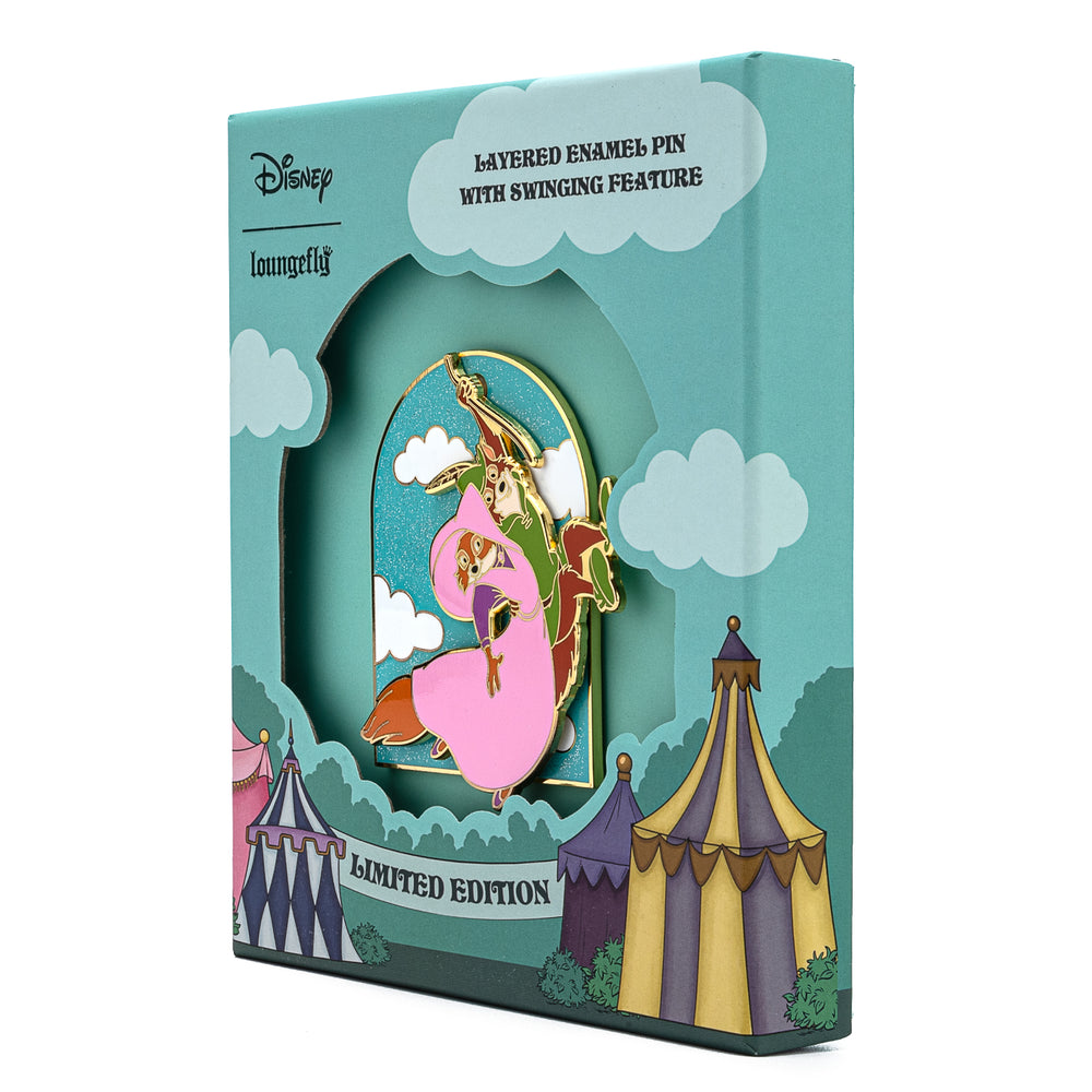 Disney Robin Hood Rescues Maid Marian Collector Box Sliding Enamel Pin-zoom