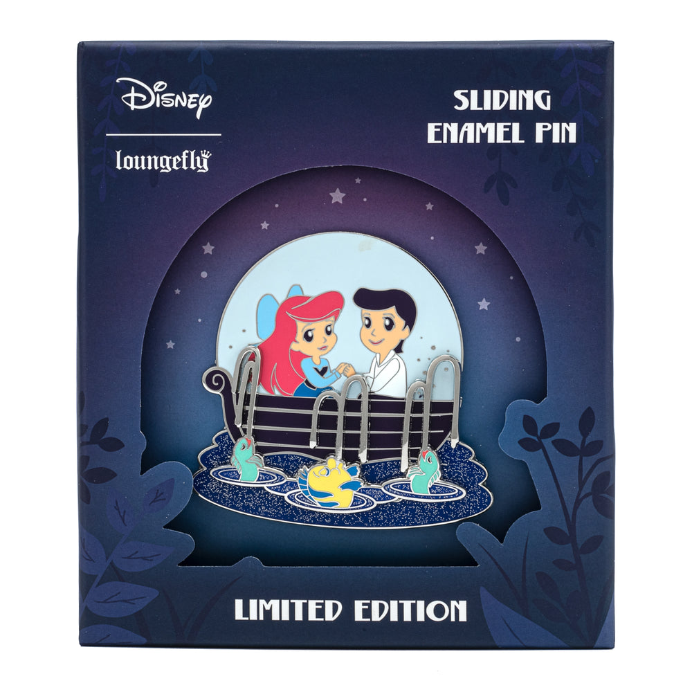 Disney The Little Mermaid Kiss the Girl Collector Box Sliding Enamel Pin-zoom