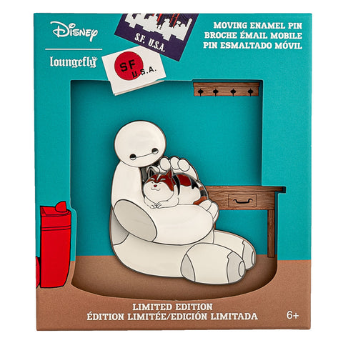 Disney Big Hero 6 Baymax Collector Box Moving Enamel Pin