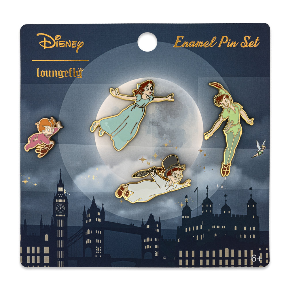 Disney Peter Pan 4pc Enamel Pin Set-zoom