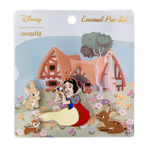 Disney Snow White and Animals 4pc Enamel Pin Set
