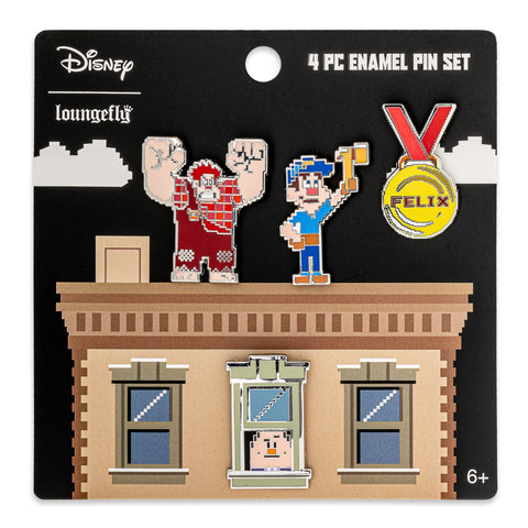 Disney Wreck-It Ralph 4pc Enamel Pin Set
