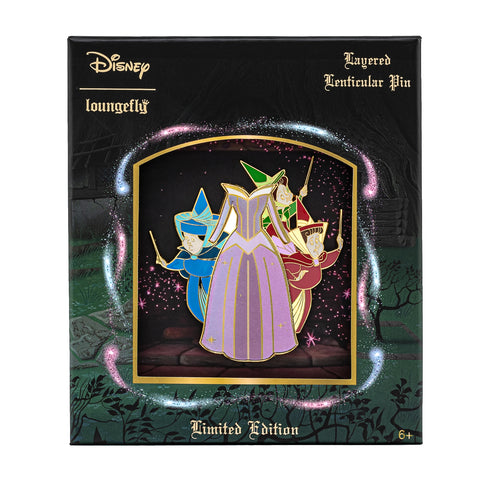 Disney Sleeping Beauty Collector Box Lenticular Enamel Pin