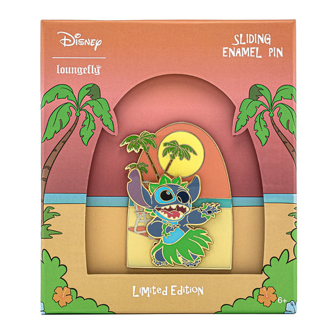 Disney Lilo & Stitch Hula Collector Box Sliding Enamel Pin