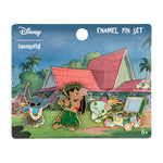 Disney Lilo & Stitch Hula 4pc Enamel Pin Set
