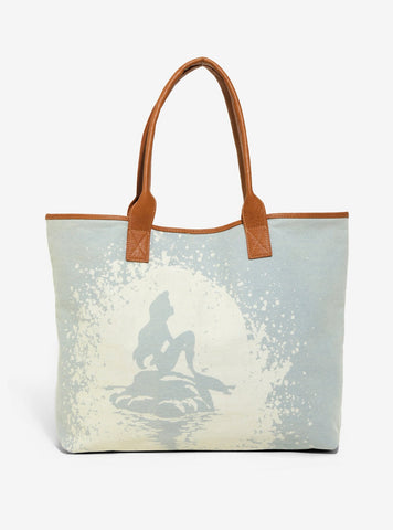 Loungefly X Disney The Little Mermaid Bleached Denim Tote Bag