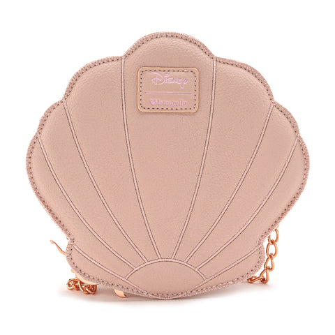 Loungefly X DIsney The Little Mermaid Rose Gold Shell Crossbody Bag