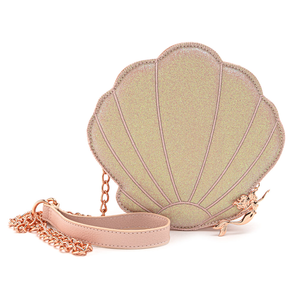 Loungefly X DIsney The Little Mermaid Rose Gold Shell Crossbody Bag-zoom