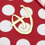 Loungefly X Disney Red and White Polka Dot Logo Crossbody Bag
