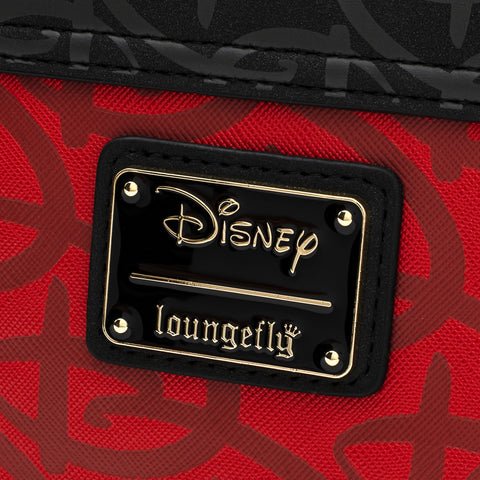 Loungefly X Disney Red/Blk Logo Debossed Crossbody Bag