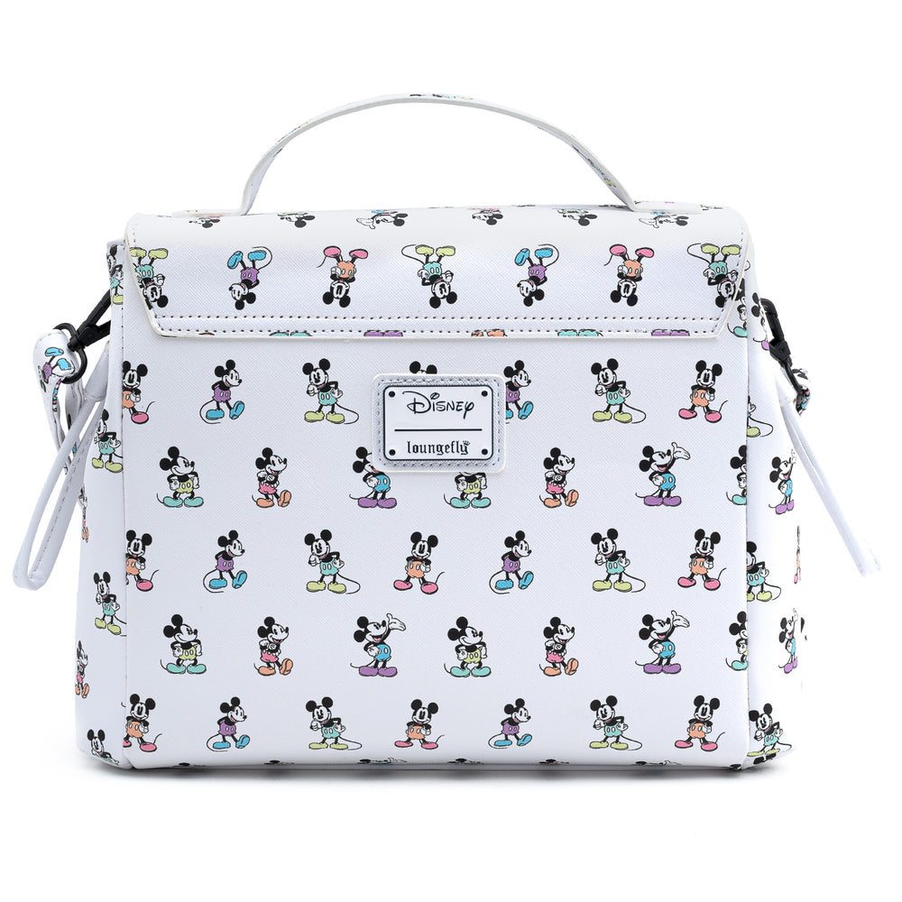 Loungefly X Disney Mickey Mouse Pastel Poses Cross Body Bag-zoom