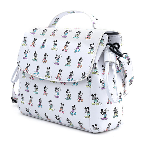 Loungefly X Disney Mickey Mouse Pastel Poses Cross Body Bag