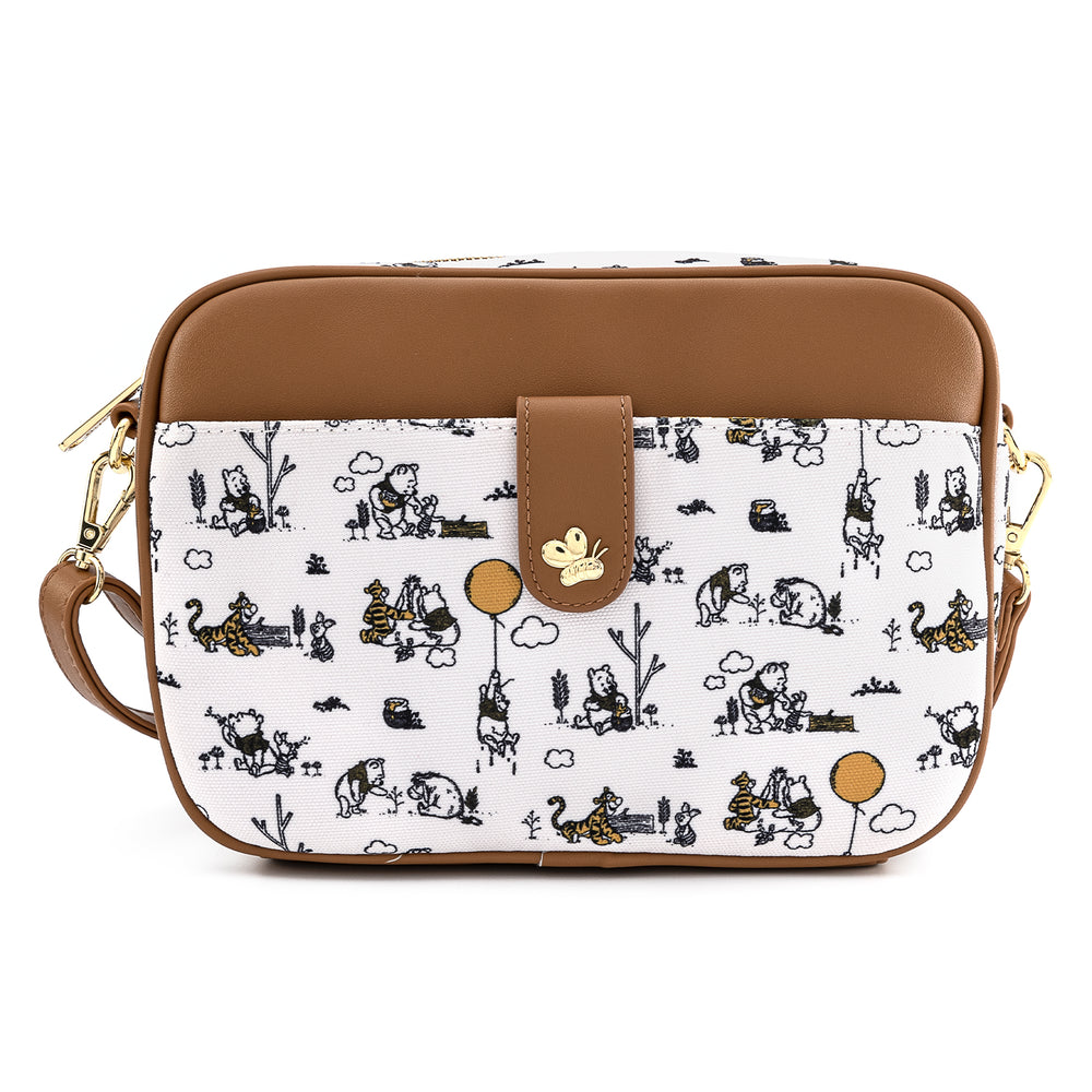 Loungefly X Disney Winnie The Pooh Canvas Line Drawing Cross Body Bag-zoom