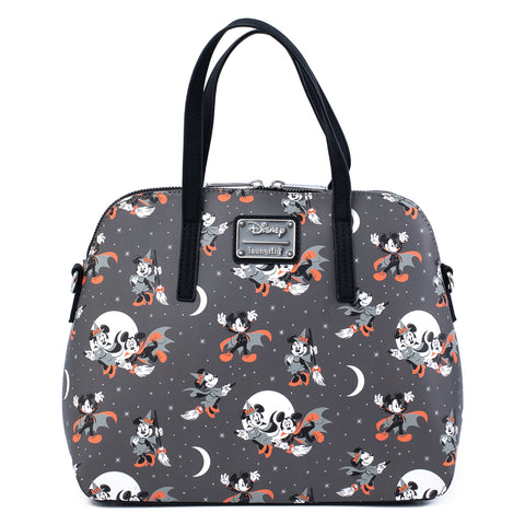 Loungefly X Disney Mickey and Minnie Halloween AOP Cross Body Bag