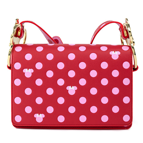 Disney Minnie Mouse Pink Polka Dot Bow Crossbody Bag