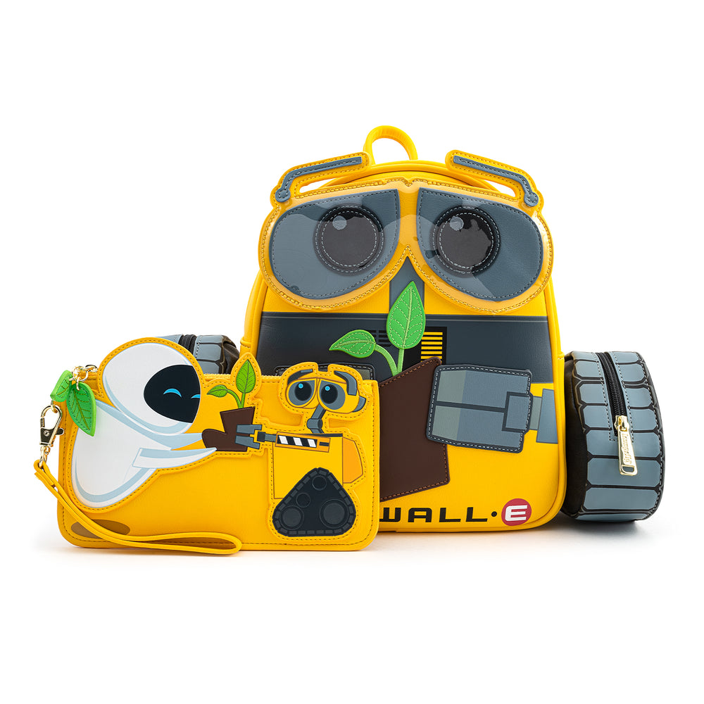 Loungefly .X .Pixar Wall-E And Eve Boot Plant Flap Wallet-zoom