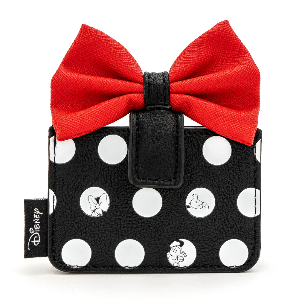 Loungefly X Minnie Mouse Big Red Bow Card Holder-zoom