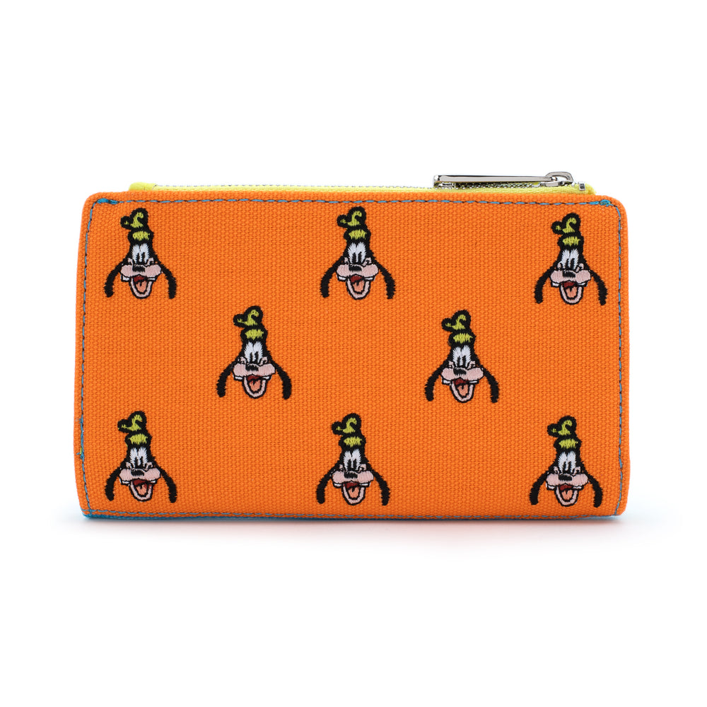 Loungefly X Disney Goofy AOP Embroidered Canvas Wallet-zoom