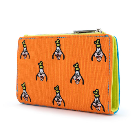 Loungefly X Disney Goofy AOP Embroidered Canvas Wallet