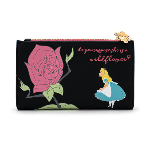 Loungefly X Disney Alice In Wonderland Flowers AOP Wallet