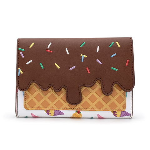 Loungefly X Disney Princess Ice Cream Cone AOP Wallet