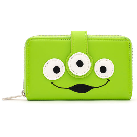 !Loungefly X .Pixar .Toy Story Alien Eyes Zip Around Wallet