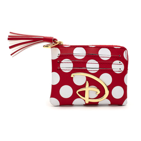 Loungefly X Disney Red and White Polka Dot Logo Cardholder