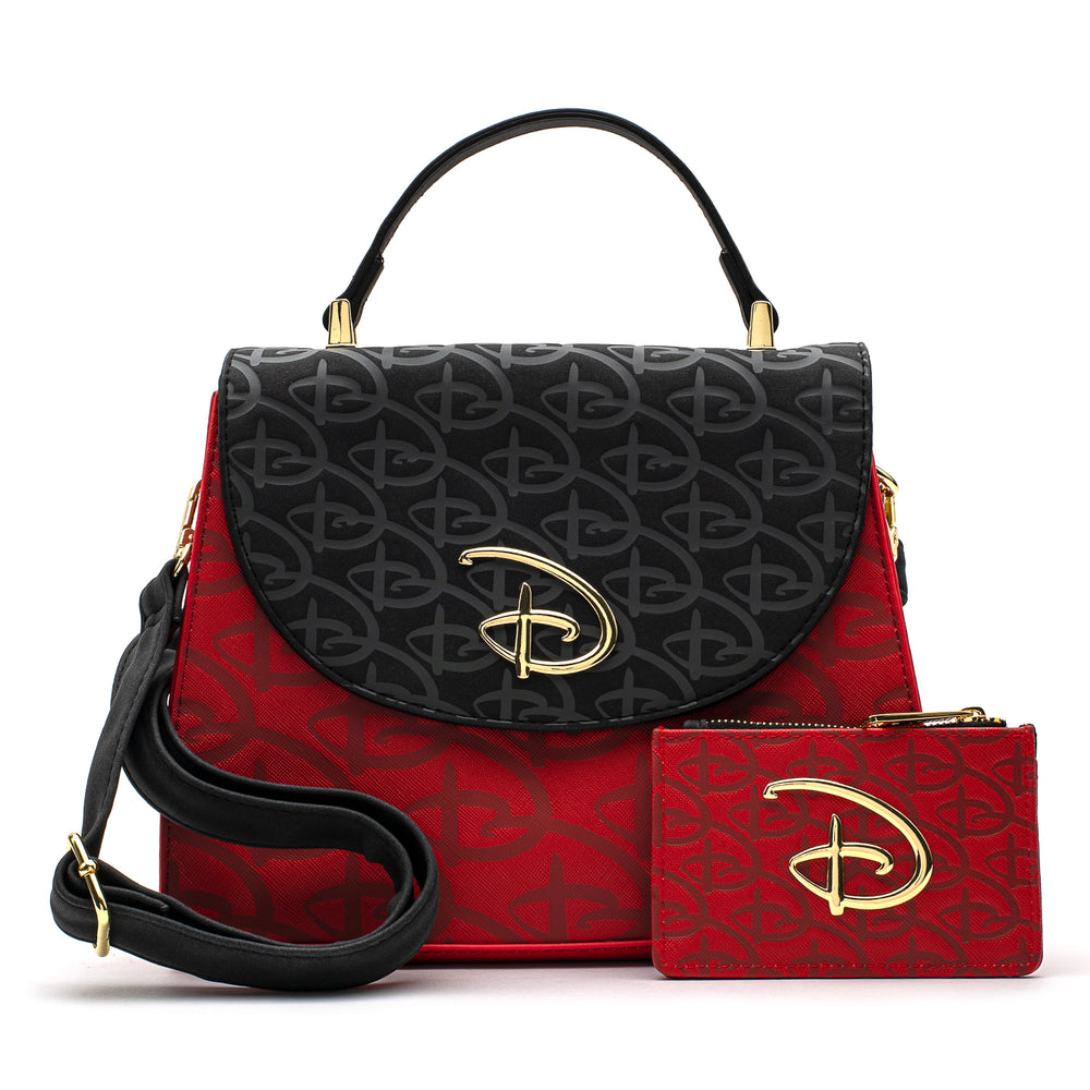 Loungefly X Disney Red/Black Debossed Logo Cardholder/Coin Purse-zoom