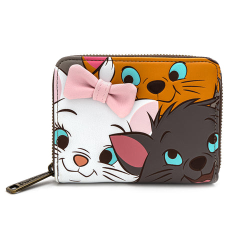 Loungefly X Disney The Aristocats Triple Kitty Zip Around Wallet
