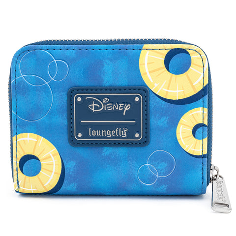 Disney Lilo & Stitch Pineapple Floaty Scrump Zip Around Wallet