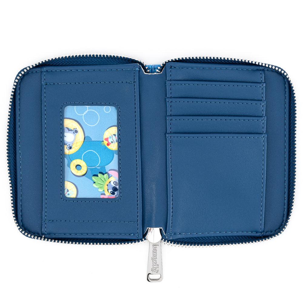 Disney Lilo & Stitch Pineapple Floaty Scrump Zip Around Wallet-zoom