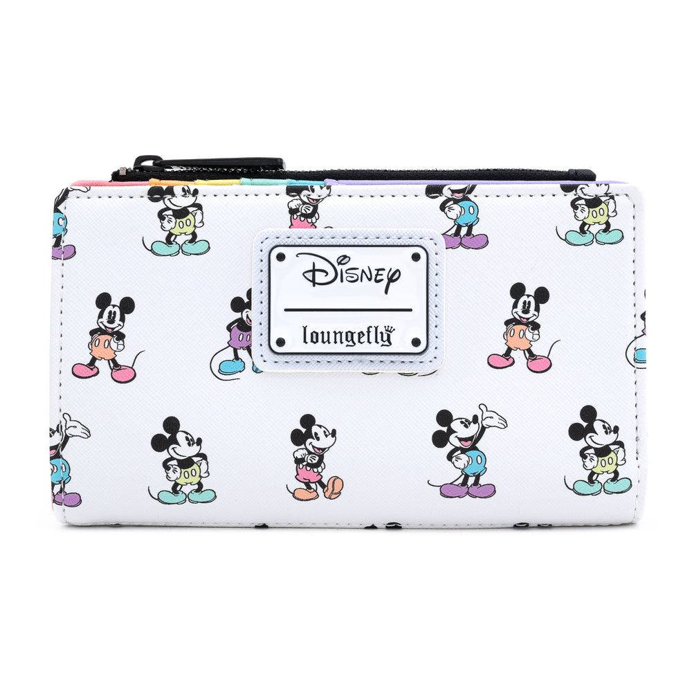 Loungefly X Disney Mickey Mouse Pastel Poses Wallet-zoom