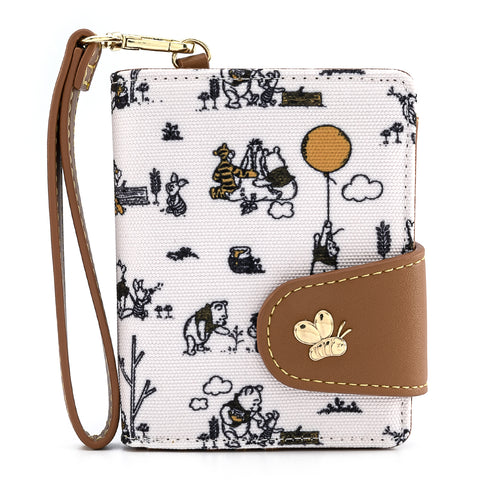 Loungefly X Disney Winnie The Pooh Canvas Line Drawing Wristlet Wallet