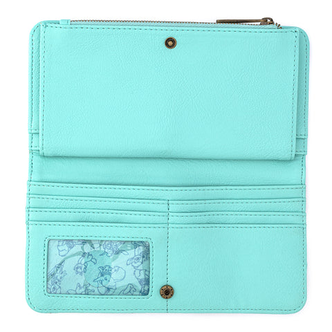 Loungefly X Disney Classics Mint Checkered All Over Print Flap Wallet
