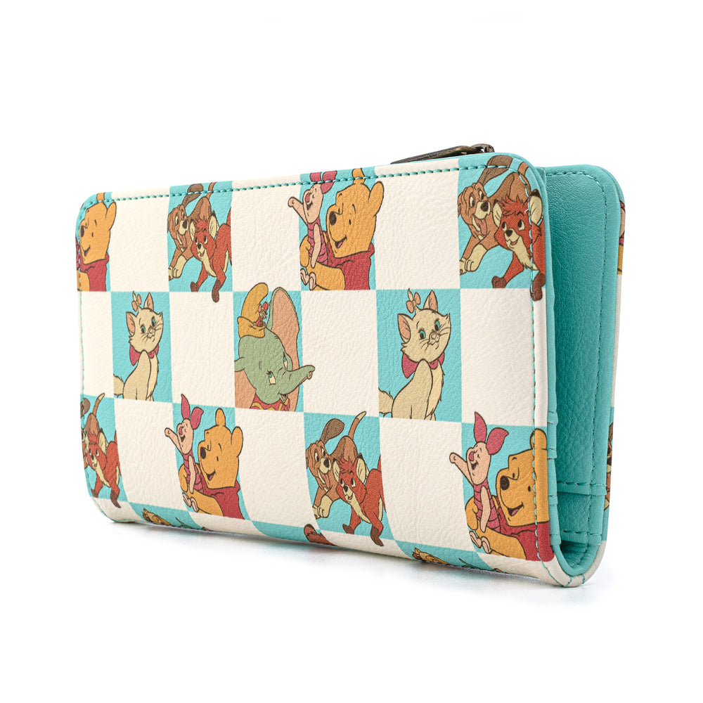 Loungefly X Disney Classics Mint Checkered All Over Print Flap Wallet-zoom