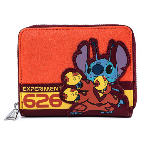 Disney Lilo & Stitch Experiment 626 Cosplay Zip Around Wallet