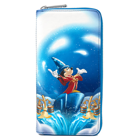 Disney Fantasia Sorcerer Mickey Mouse Zip Around Wallet