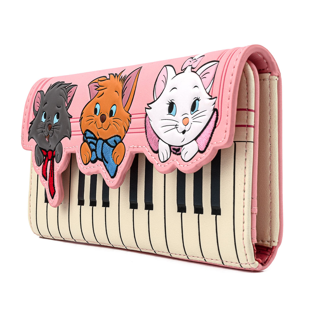 Disney The Aristocats Piano Tri-Fold Wallet-zoom